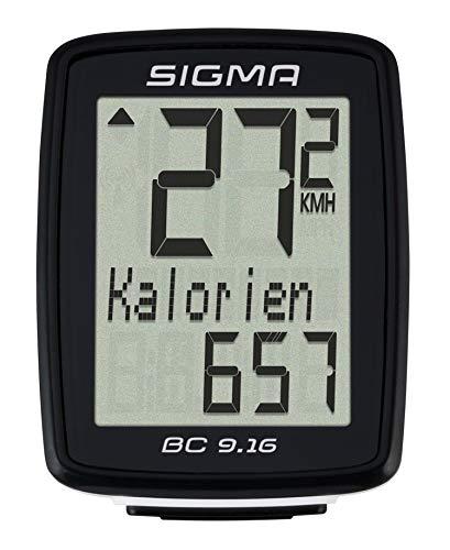 Sigma Bicicletta Computer BC 9.16, Nero
