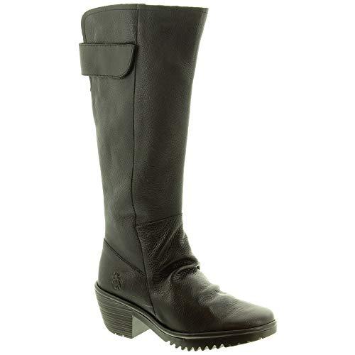 Fly London - Stivali da donna con tacco Waki, colore: Nero, Nero (Nero ), 41 EU