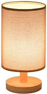 Aaedrag Dorm Room Reading Light Modern Minimalist Ideas Woody Table Lamp Burlap Shade Warm Bedroom Bedside Lamp