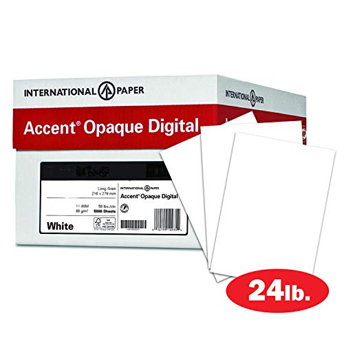Accent 188083C Opakes weißes Papier, 60 lb Text, 89 g/m², 12x18 Papier, 97 hell, 4 Ries Cases/2.000 Blatt, glattes Papier, Text Heavy Paper