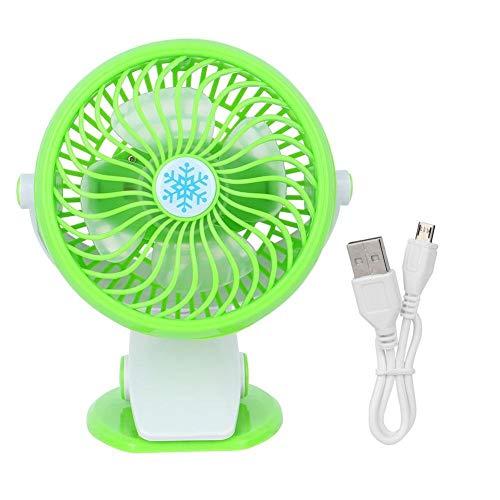 Broco mini-USB-tabel, oplaadbaar, werkt op batterijen, clip op het bureau, fan mute (groen)