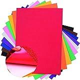 Lámina de Espuma Eva Hojas de Goma Eva Papel Adhesiva Surtido 10 Color para Manualidades DIY Proyectos Escolares Decoracíon Artesañal(21×29.7cm)