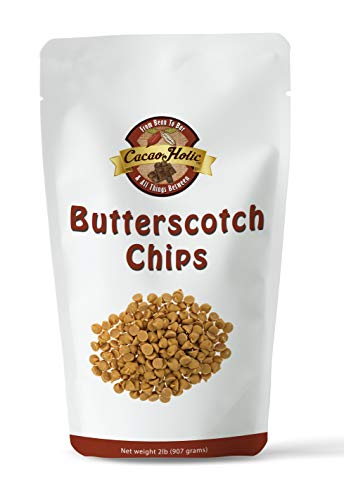 Cacaoholic Butterscotch Chips   Releasable Standup Pouch   2 Pounds