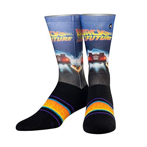 ODD SOX Unisex Crew-Socken - Back In Time (Zurück in die Zukunft)-(Größe 38-46)