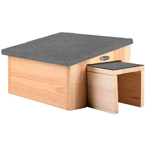Gardening Direct Hedgehog House and Shelter - Feeding Station & Predator Proof with a Felt Cover and made of Quality Wood for Garden Hedgehogs