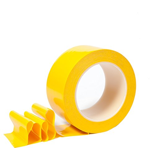 2 Inch Floor Tape for Marking Factories, Warehouses, Workshops, Public Areas with Aggressive Adhesive & Flexible Backing, Yellow 2