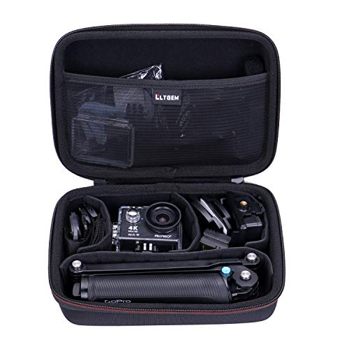 AKASO Sports Camcorder Case - LTGEM EVA Hard Case for AKASO EK7000 4K WiFi Sports Action Camera Ultra HD Waterproof DV Camcorder (Camera + Mounts + Accessories Case)