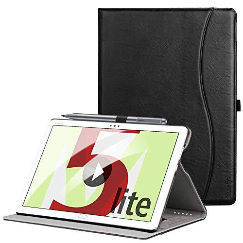 ZtotopHülle Hülle für Huawei MediaPad M5 Lite 10.1, Premium Kunstleder Leichte Hülle mit Auto Schlaf/Wach Funktion & Pen Halter, für Huawei MediaPad M5 Lite 10.1 Zoll 2018 Modell,Schwarz
