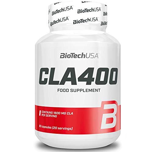 CLA 400 80 capsules - huile de carthame (Carthamus Tinctorius) - BiotechUSA