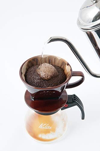 カリタ コーヒードリッパー 陶器製 2~4人用 ブラウン 102-ロト #02003