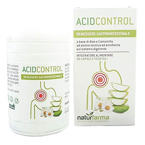 Acid Control 50 Capsule vegetali | Integratore utile a lenire il reflusso ed il bruciore del sistema digerente