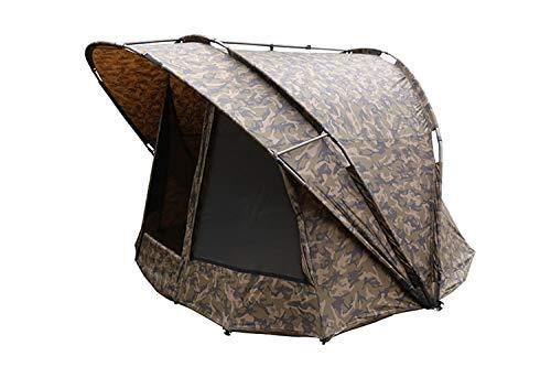 Fox R-Series 1 man XL camo 235x295x165cm Karpfenzelt, Zelt für Karpfenangler, Angelzelt zum Ansitzangeln auf Karpfen & Waller