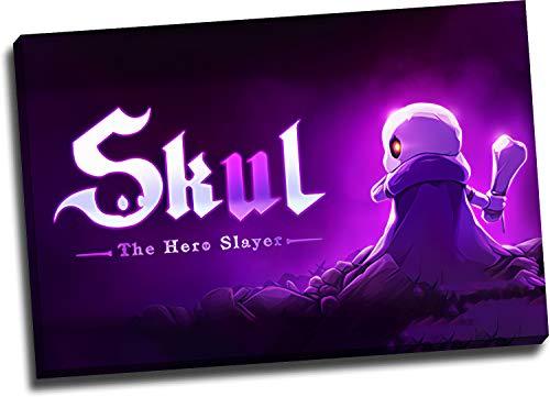 Skul The Hero Slayer - Póster enmarcado de madera, 45,72 x 30,48 cm, para el baño, listo para colgar