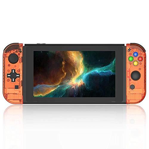 WXX QQBH Caso Caja del Interruptor versión reemplazo D Pad for Interruptor Serie de Juegos de Consola Caso Alegría-con celda de Juego (Color : Orange wholeset)