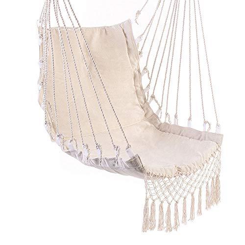 Épais Swing Hammock Coton Outdoor Hanging intérieur Lit Tassel Toile Balancez Hamacs Chaise de Jardin hamac Chaise Hanging