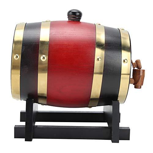 PBOHUZ Barril de Vino Barril de Vino de Madera: 1.5L Mini Barril de Madera de Roble para el hogar Barril de Vino Cubo Accesorio para la elaboración de Cerveza casera