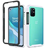 Dzxouui for Oneplus 8T Case,One Plus 8T+5G Case,Oneplus 8T 5G Case,Heavy Duty Protective Shockproof Bumper Hybrid Back Clear TPU Cover Phone Cases for Oneplus 8T 5G(XK-White)