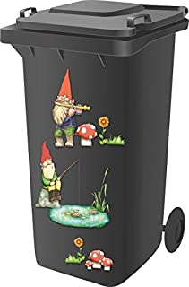 Designer Adhesive Stickers Dustbins Household
