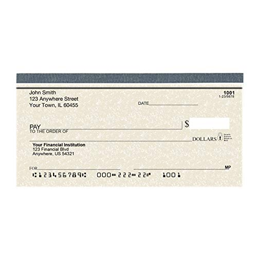 Parchment Personal Checks - Bank Checks Personalized and Printed for Your Checking Account - 1 Box of Duplicate Checks