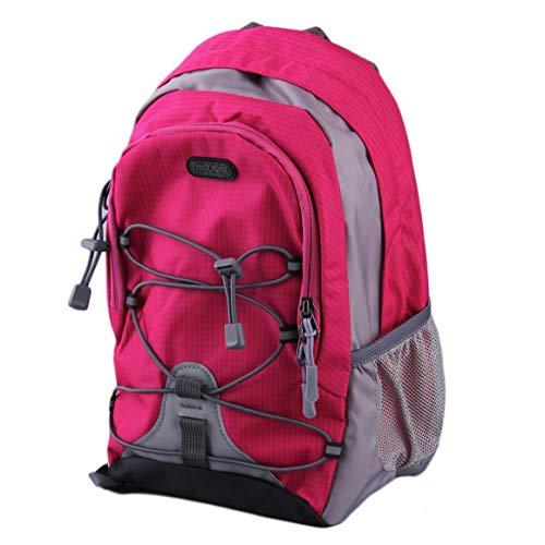 Funnyrunstore Ligero Impermeable Nylon Correr Mochila de Viaje al Aire Libre para el Ocio Escolar Mochila de montaña 15L Paquetes Venta Mundial en Todo el Mundo Rosa Rojo
