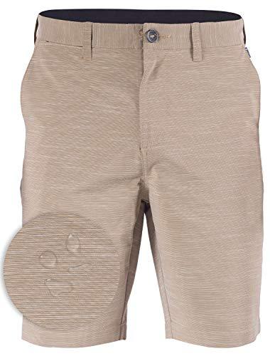 Mens Hybrid Golf Shorts Stretch Quick Dry Swim Trunks Boardshorts Khaki - 40