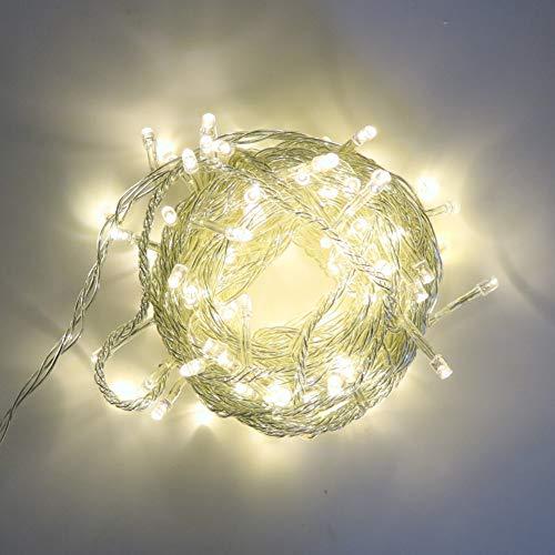 Guirnalda de luces LED de 10 m, con 8 modos para Navidad, vacaciones, bodas, fiestas, decoración del hogar