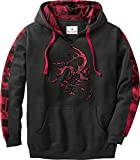 Legendary Whitetails Men's Camo Plaid Outfitter Hoodie, Black, X-Large
