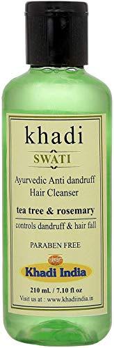 Glamorous Hub Khadi Swati Limpiador de cabello anticaspa (con árbol de té y romero) (el embalaje puede variar)