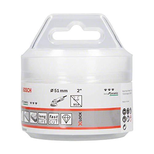 Bosch Professional 2608599016 Punta Diamantata a Secco per Ceramica, X-Lock, Dry Speed, Ø 51 mm, Lunghezza di Lavoro 35 mm, Colore