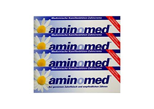 4 x 75ml Aminomed bei gereiztem Zahnfleisch & empfindlichen Zähnen Kamillenblüten
