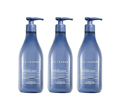 Loreal Serie Expert Sensi Balance Shampoo, 3er Pack je 500ml
