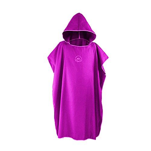 SHANNA Changing Robe Handdoek Capuchon Poncho voor Surfen Zwemmen Wetsuit veranderen, Compact & Snel Droog Strand Zonnescherm Mantel, Een Maat Fit Alle
