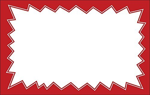Retail Price Signs for Sales, Events, 3.5-inch x 5.5 inch, 50 Red Tags per Pack - Burst
