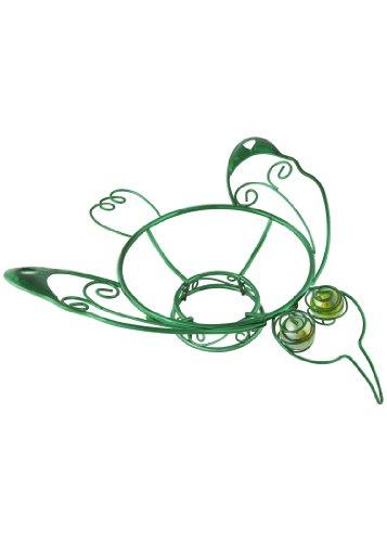 Russco lll GD126504 Support pour Boules de visée en Fil de Fer plaqué Vert et métal Motif Colibri