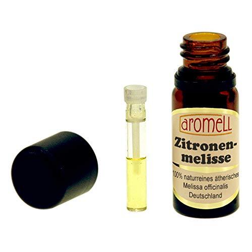Echte Melisse (Zitronenmelisse) - 100% naturreines, ätherisches Öl aus Deutschland, 1 ml