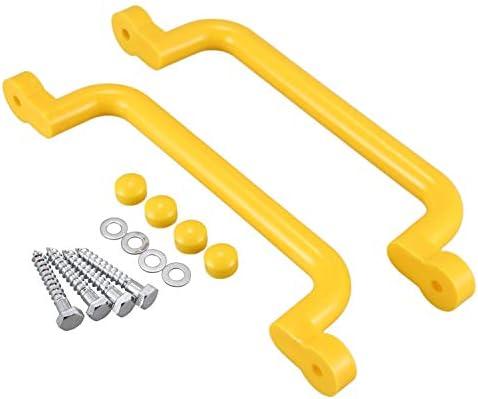 Baalaa 1 Paar Handvat met Handvat Solid Veiligheid Speelgoed Set Handvat voor Klimmen Frame Boom Huis Den Speelhuis Geel
