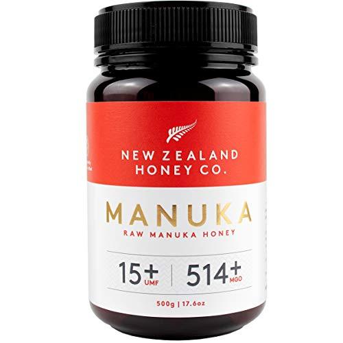 New Zealand Honey Co. Manuka Honig MGO 514+ / UMF 15+ | Aktiv und Roh | Hergestellt in Neuseeland | 500g
