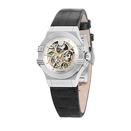 Maserati Potenza Reloj para Mujer Analógico de Automático con Brazalete de Piel de Vaca R8821108020