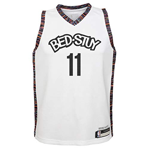 NBA Kids 4-7 Official Name and Number Replica Home Alternate Road Player Jersey (7, Kyrie Irving Brooklyn Nets City Edition)