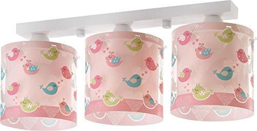 Dalber Uccellini Lampada da soffitto 60 W, Multicolore, 205 x 510 x 150
