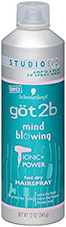 Got2b Mind Blowing Fast Dry Studio Size Hairspray, 12 Ounce