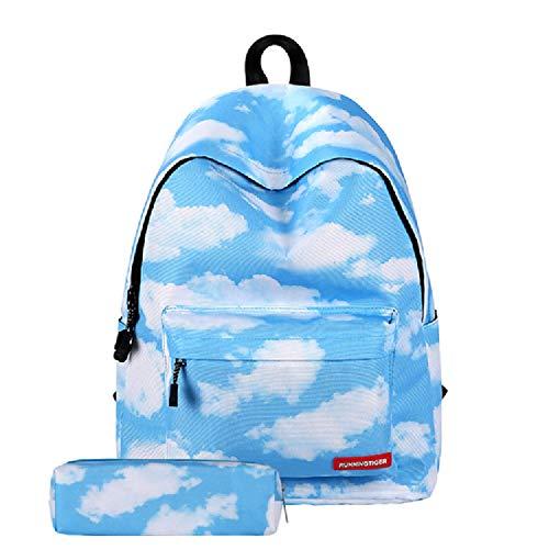 ZBK Starry Sky Series - Mochila escolar para niñas, con estuche para lápices, 6 colores