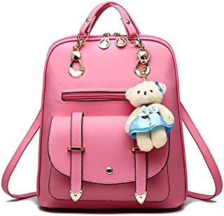 DHINGM New Korean Version of The Trend of Shoulder Bag, Trend Female Backpack, Vibrant Style, Youthful, Fashion Trend Wild, Easy to Carry, Stylish and Beautiful (Color : Beige)