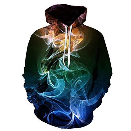 YXIU_Kleidung YXIU Herren Kapuzenpullover Creative 3D Druck Hoodie Pullover Sweatjacke Hoodie Outdoor Sport Sweatshirt