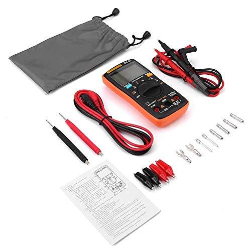 LIPENLI Prueba Electrónica Cables Kit, DC Voltaje ANENG AN8008 verdadero valor eficaz multímetro digital AC amperímetro actual Ohmímetro