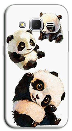 Mixroom - Cover Custodia Case In TPU Silicone Morbida Per Samsung Galaxy Core Prime G360 M488 Cuccioli Di Panda