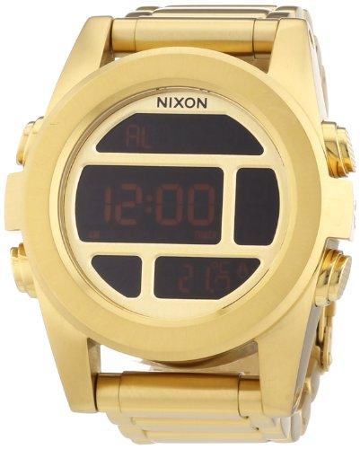 Nixon Herren Digital Quarz Uhr mit Edelstahl beschichtet Armband A360502-00