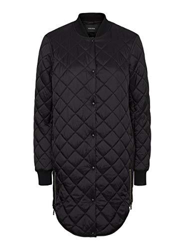 VERO MODA Damen Vmhayle Ss20 3/4 Noos Quilted Jacket, Schwarz, XL EU