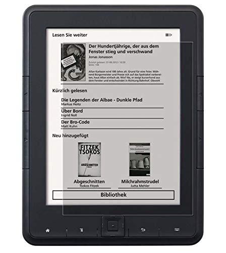 SecuFlexx 2X Displayschutzfolien CrystalClear kompatibel zu TrekStor eBook Reader 4 - kristallklarer Displayschutz