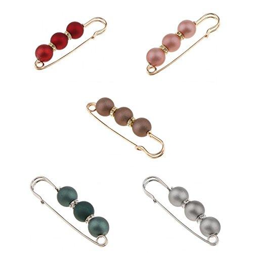 5 Stücke Kristall Charme Sicherheitsnadel Brosche Clip für Strickjacke Mantel und Schultertücher